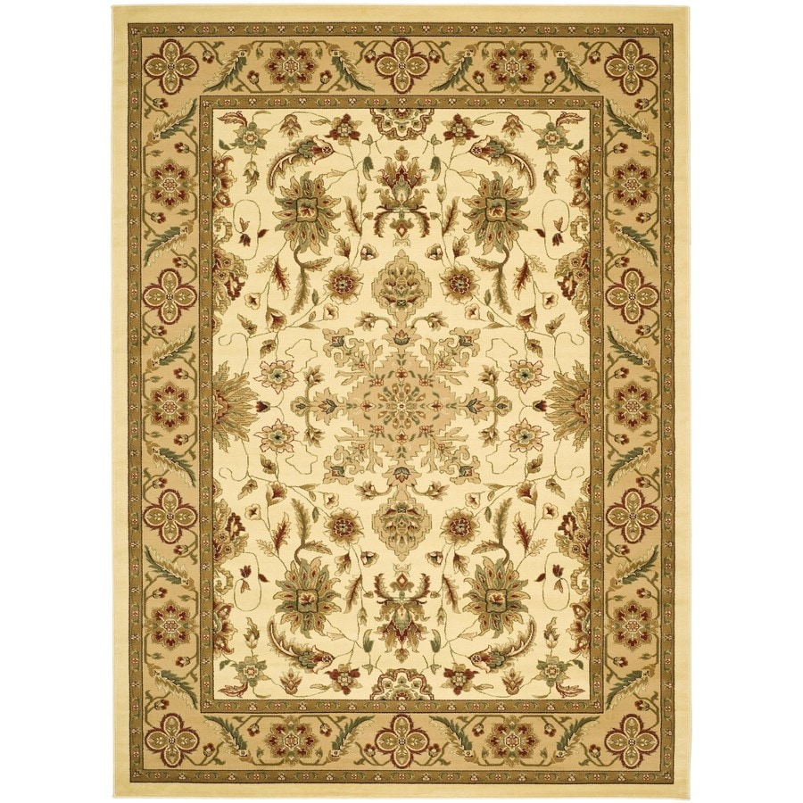 Safavieh Lyndhurst Ivory and Tan Rectangular Indoor Machine-Made Area Rug (Common: 9 x 12; Actual: 107-in W x 144-in L x 0.67-ft Dia)