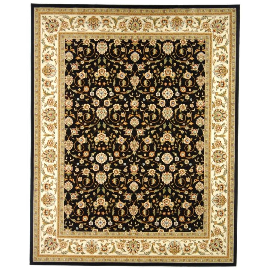 Safavieh Lyndhurst Black and Ivory Rectangular Indoor Machine-Made Area Rug (Common: 9 x 12; Actual: 107-in W x 144-in L x 0.67-ft Dia)
