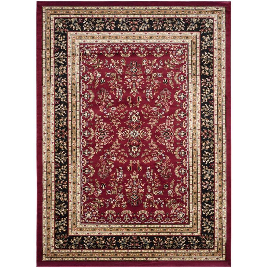 Safavieh Lyndhurst Red and Black Rectangular Indoor Machine-Made Area Rug (Common: 9 x 12; Actual: 107-in W x 144-in L x 0.67-ft Dia)