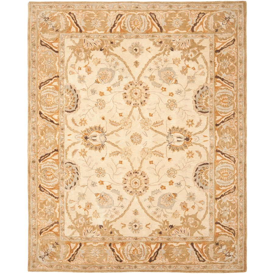 Safavieh Anatolia Rectangular Gray Transitional Tufted Wool Area Rug (Common: 8-ft x 10-ft; Actual: 8-ft x 10-ft)