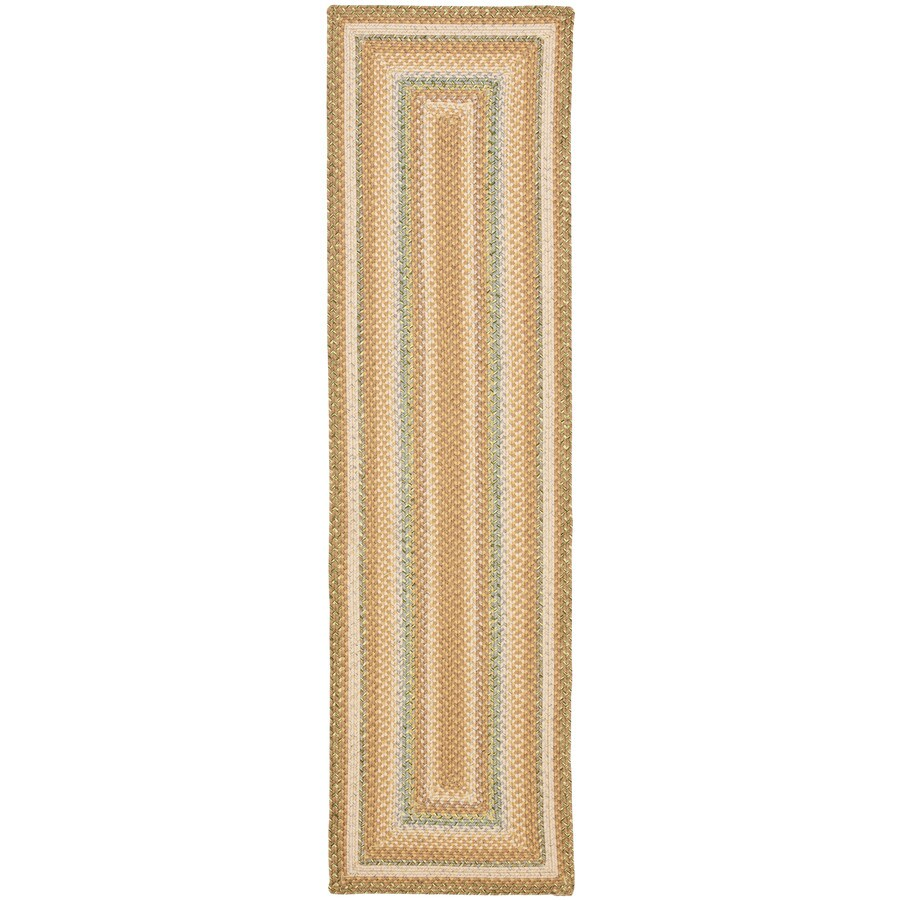 Safavieh Braided Tan and Multicolor Rectangular Indoor Braided Runner (Common: 2 x 6; Actual: 27-in W x 72-in L x 0.42-ft Dia)