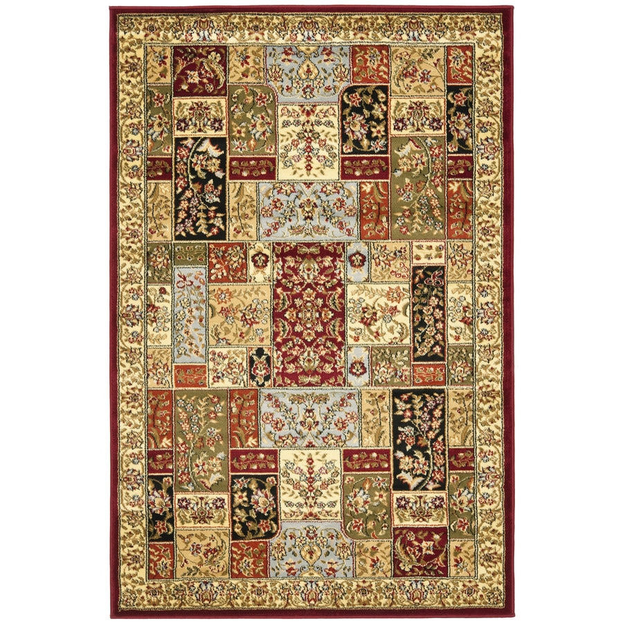 Safavieh Lyndhurst Multicolor and Ivory Rectangular Indoor Machine-Made Area Rug (Common: 4 x 6; Actual: 48-in W x 72-in L x 0.42-ft Dia)