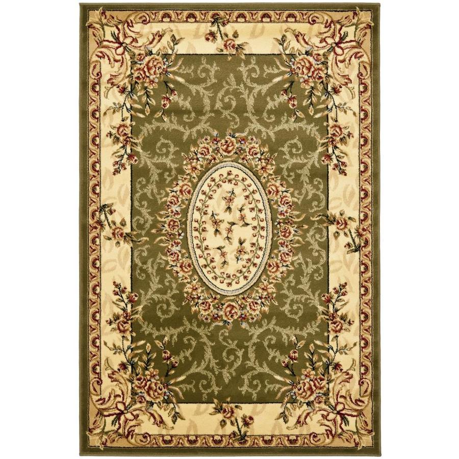Safavieh Lyndhurst Sage and Ivory Rectangular Indoor Machine-Made Area Rug (Common: 4 x 6; Actual: 48-in W x 72-in L x 0.42-ft Dia)