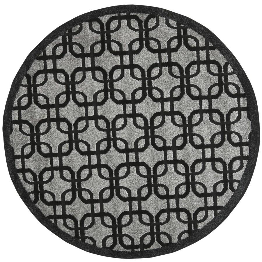 Safavieh York 6-ft 7-in x 6-ft 7-in Round Gray Geometric Area Rug