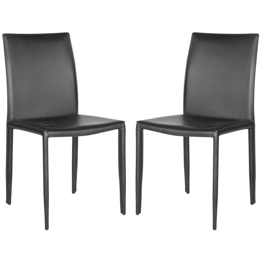 Safavieh Set of 2 Fox Black Side Chairs