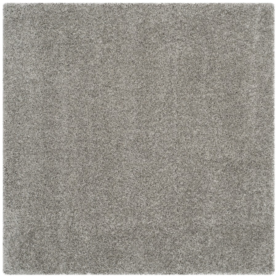 Safavieh Shag Silver Square Indoor Machine-Made Area Rug (Common: 8 x 8; Actual: 102-in W x 102-in L x 0.58-ft Dia)
