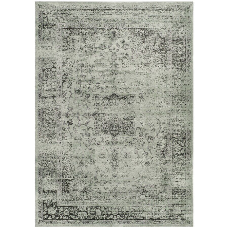 Safavieh Vintage Spruce and Ivory Rectangular Indoor Woven Area Rug (Common: 5 x 7; Actual: 63-in W x 90-in L x 0.42-ft Dia)