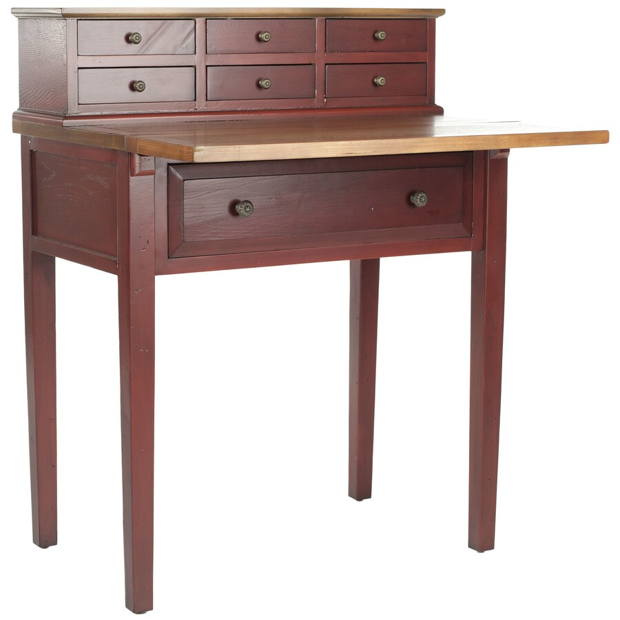 Safavieh Abigail Cherry/Honey Oak Fold-Out Desk
