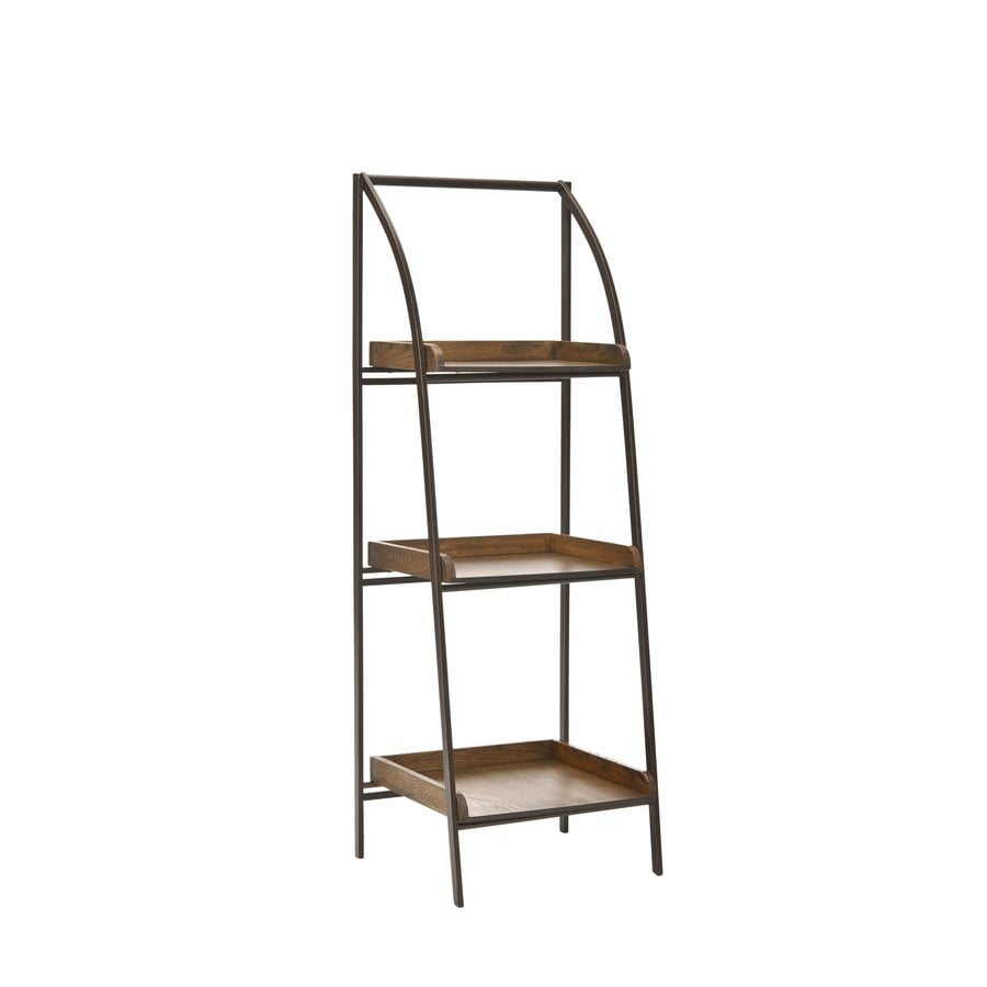 Safavieh 47.5-in H x 17-in W x 14-in D 3-Tier Wood Freestanding Shelving Unit