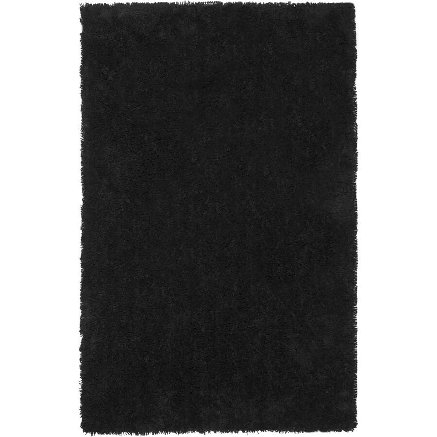 Safavieh Shag Black Rectangular Indoor Tufted Throw Rug (Common: 2 x 4; Actual: 30-in W x 48-in L x 0.5-ft Dia)