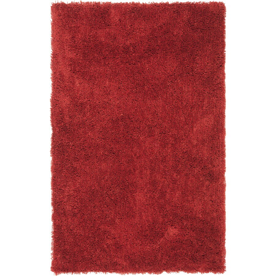 Safavieh Shag Rust Rectangular Indoor Tufted Throw Rug (Common: 3 x 5; Actual: 36-in W x 60-in L x 0.58-ft Dia)