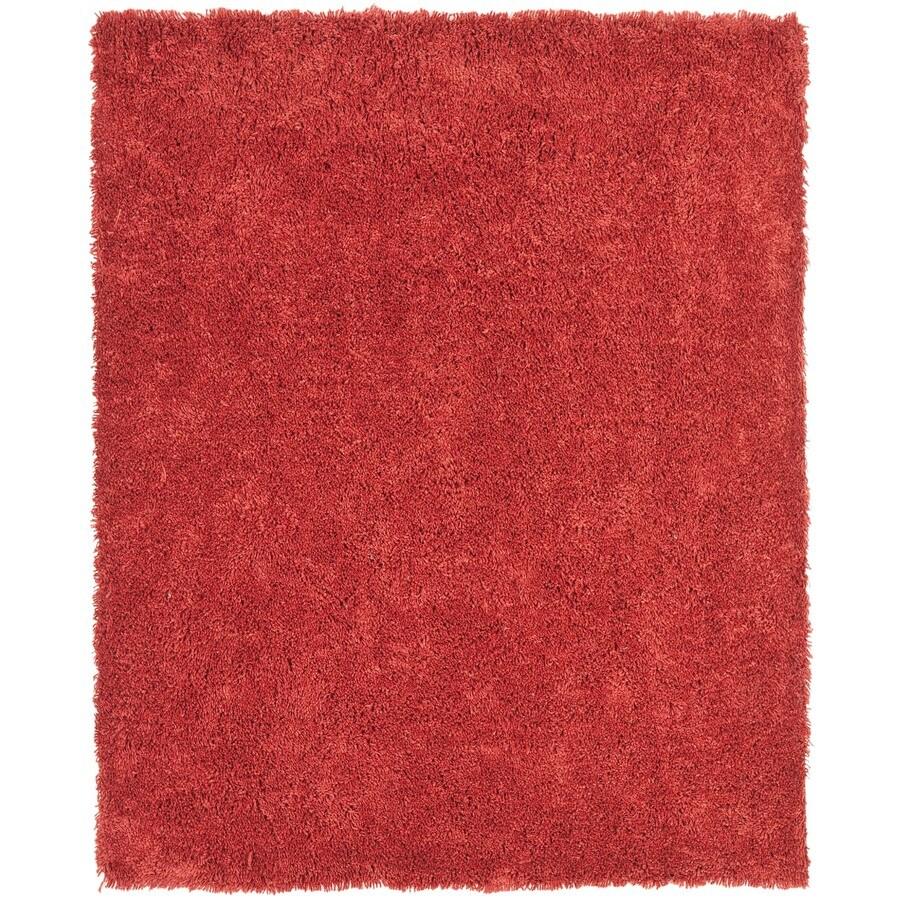 Safavieh Shag Rust Rectangular Indoor Tufted Area Rug (Common: 8 x 10; Actual: 90-in W x 114-in L x 0.92-ft Dia)