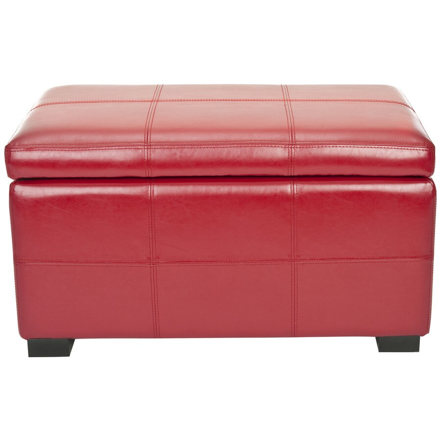 Safavieh Hudson Collection Red Rectangle Storage Ottoman