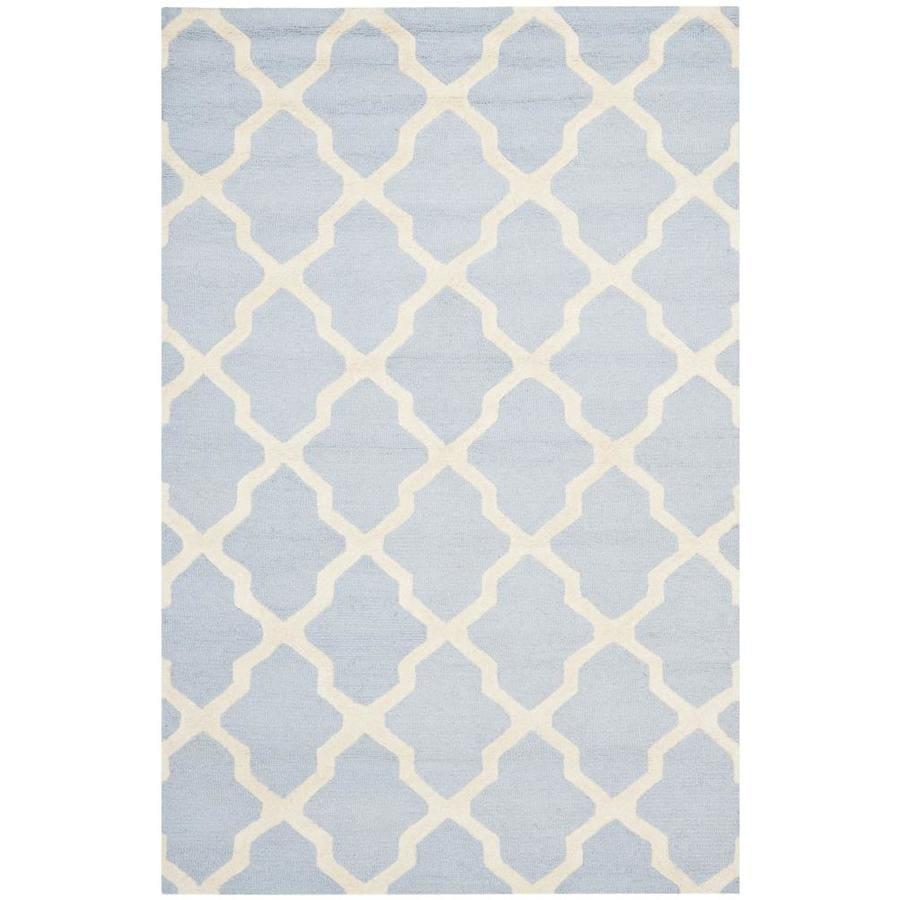 Safavieh Cambridge White Rectangular Indoor Tufted Area Rug (Common: 5 x 8; Actual: 60-in W x 96-in L x 0.58-ft Dia)