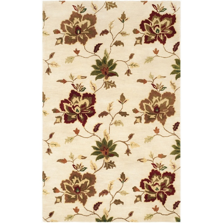 Safavieh Jardin Brown and Multicolor Rectangular Indoor Hand-Hooked Area Rug (Common: 9 x 12; Actual: 108-in W x 144-in L x 0.67-ft Dia)