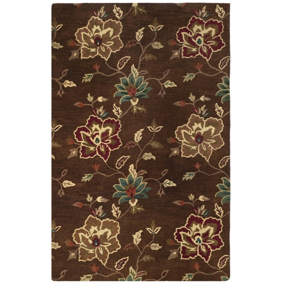 Safavieh Jardin Brown and Multicolor Rectangular Indoor Hand-Hooked Area Rug (Common: 4 x 6; Actual: 48-in W x 72-in L x 0.5-ft Dia)