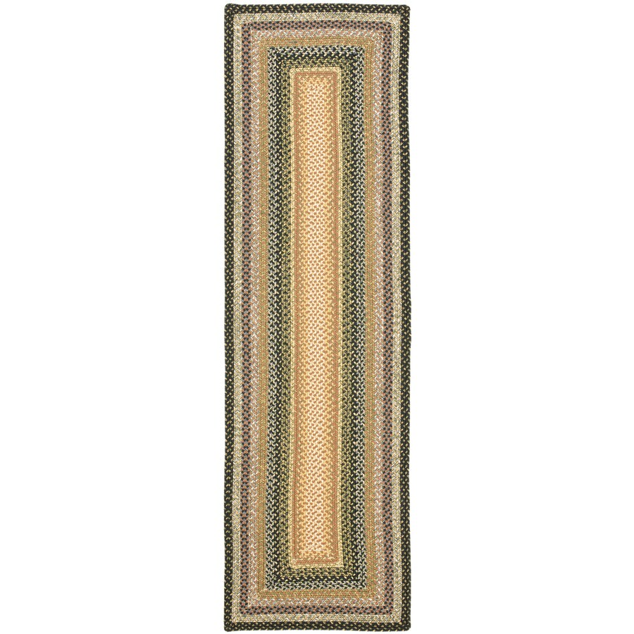 Safavieh Braided Blue and Multicolor Rectangular Indoor and Outdoor Braided Runner (Common: 2 x 12; Actual: 27-in W x 144-in L x 0.67-ft Dia)