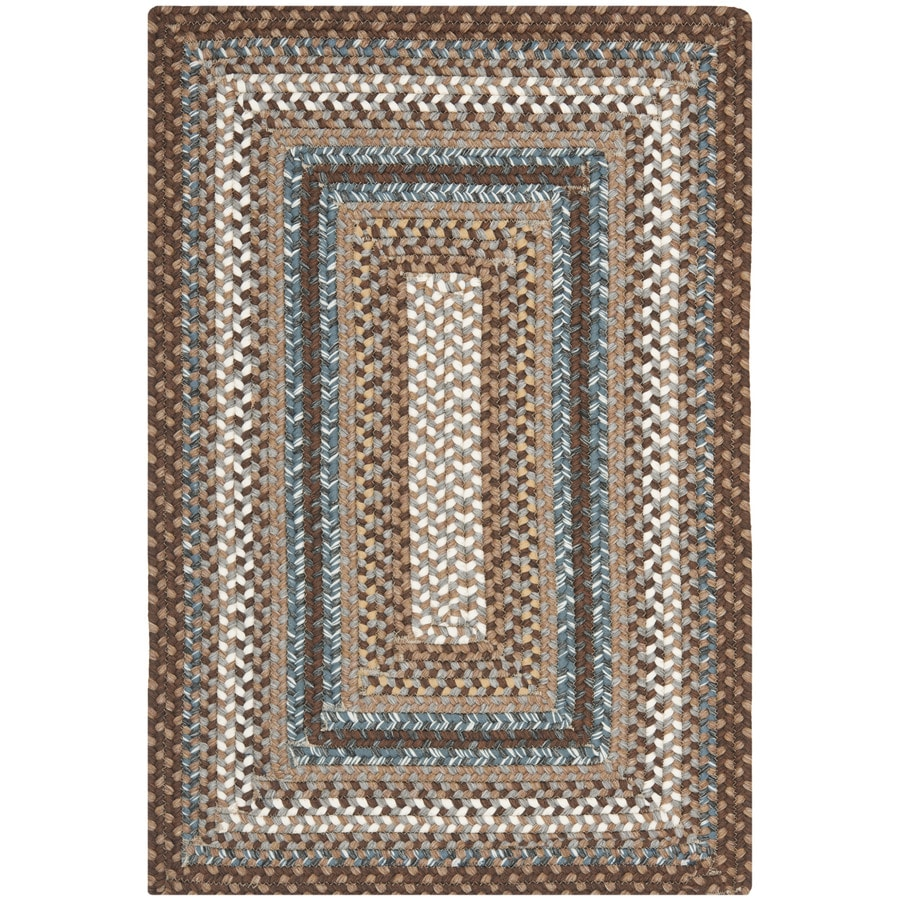 Safavieh Braided Brown and Multicolor Rectangular Indoor and Outdoor Braided Throw Rug (Common: 2 x 4; Actual: 30-in W x 48-in L x 0.33-ft Dia)