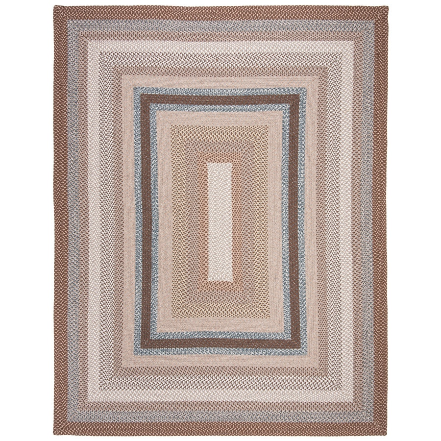 Safavieh Braided Brown and Multicolor Rectangular Indoor and Outdoor Braided Area Rug (Common: 8 x 10; Actual: 96-in W x 120-in L x 0.67-ft Dia)