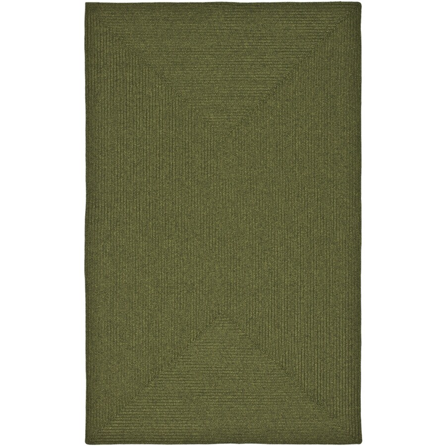 Safavieh Braided Green Rectangular Indoor and Outdoor Braided Area Rug (Common: 6 x 9; Actual: 72-in W x 108-in L x 0.67-ft Dia)
