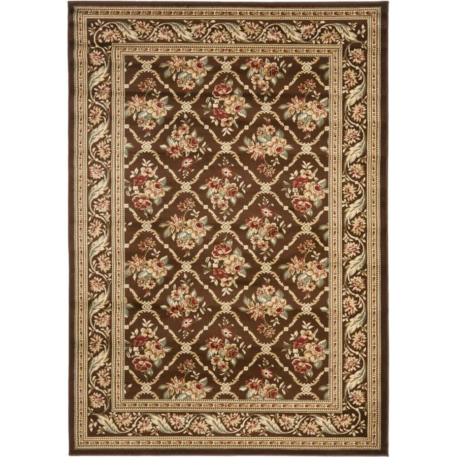 Safavieh Lyndhurst Brown and Brown Rectangular Indoor Machine-Made Area Rug (Common: 5 x 8; Actual: 63-in W x 90-in L x 0.33-ft Dia)