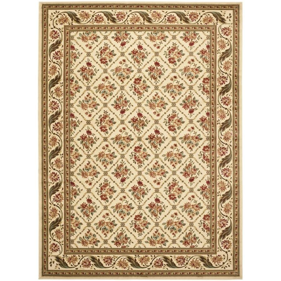 Safavieh Lyndhurst Olive and Natural Rectangular Indoor Machine-Made Area Rug (Common: 8 x 11; Actual: 96-in W x 132-in L x 0.58-ft Dia)