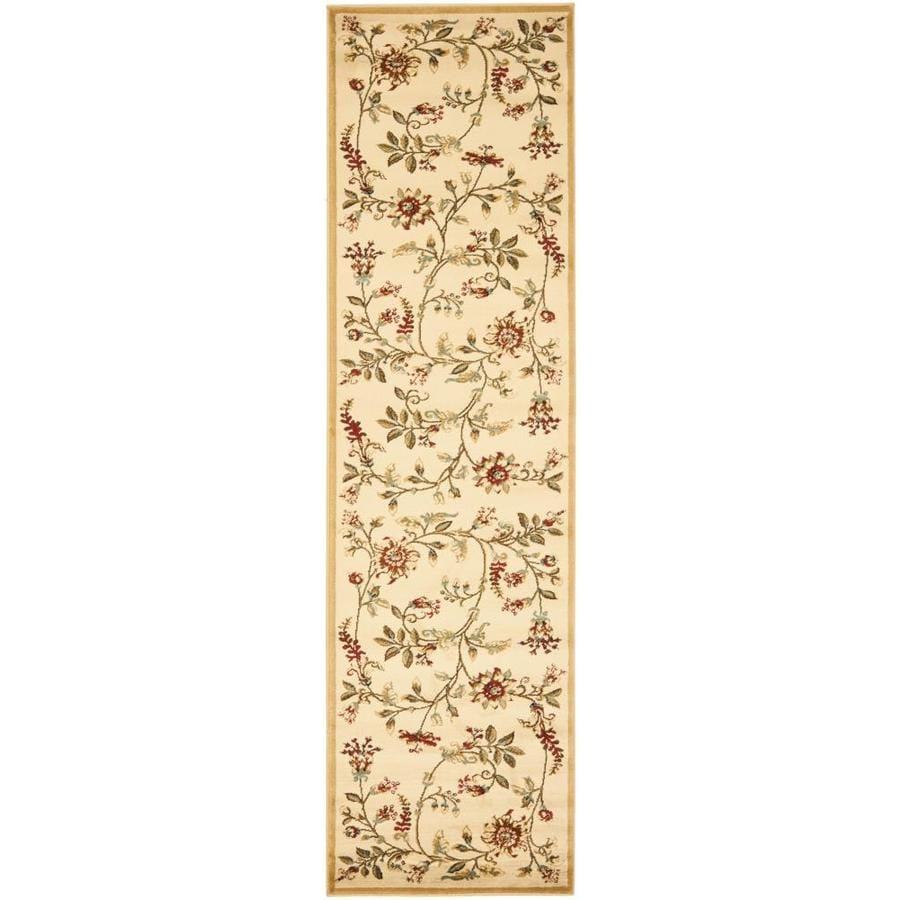 Safavieh Lyndhurst Brown and Multicolor Rectangular Indoor Machine-Made Runner (Common: 2 x 8; Actual: 27-in W x 96-in L x 0.33-ft Dia)
