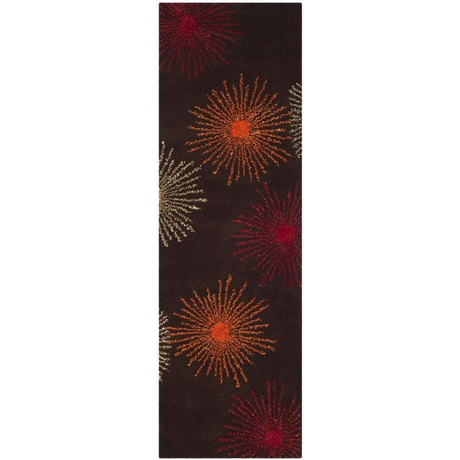 Safavieh Soho Brown and Multicolor Rectangular Indoor Tufted Runner (Common: 2 x 12; Actual: 30-in W x 144-in L x 0.67-ft Dia)