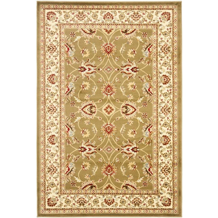 Safavieh Lyndhurst Green and Ivory Rectangular Indoor Machine-Made Area Rug (Common: 4 x 6; Actual: 48-in W x 72-in L x 0.42-ft Dia)