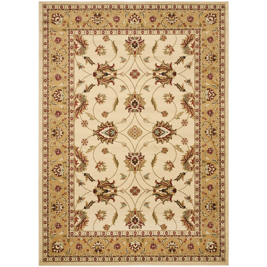 Safavieh Lyndhurst Red and Ivory Rectangular Indoor Machine-Made Area Rug (Common: 9 x 12; Actual: 105-in W x 144-in L x 0.67-ft Dia)