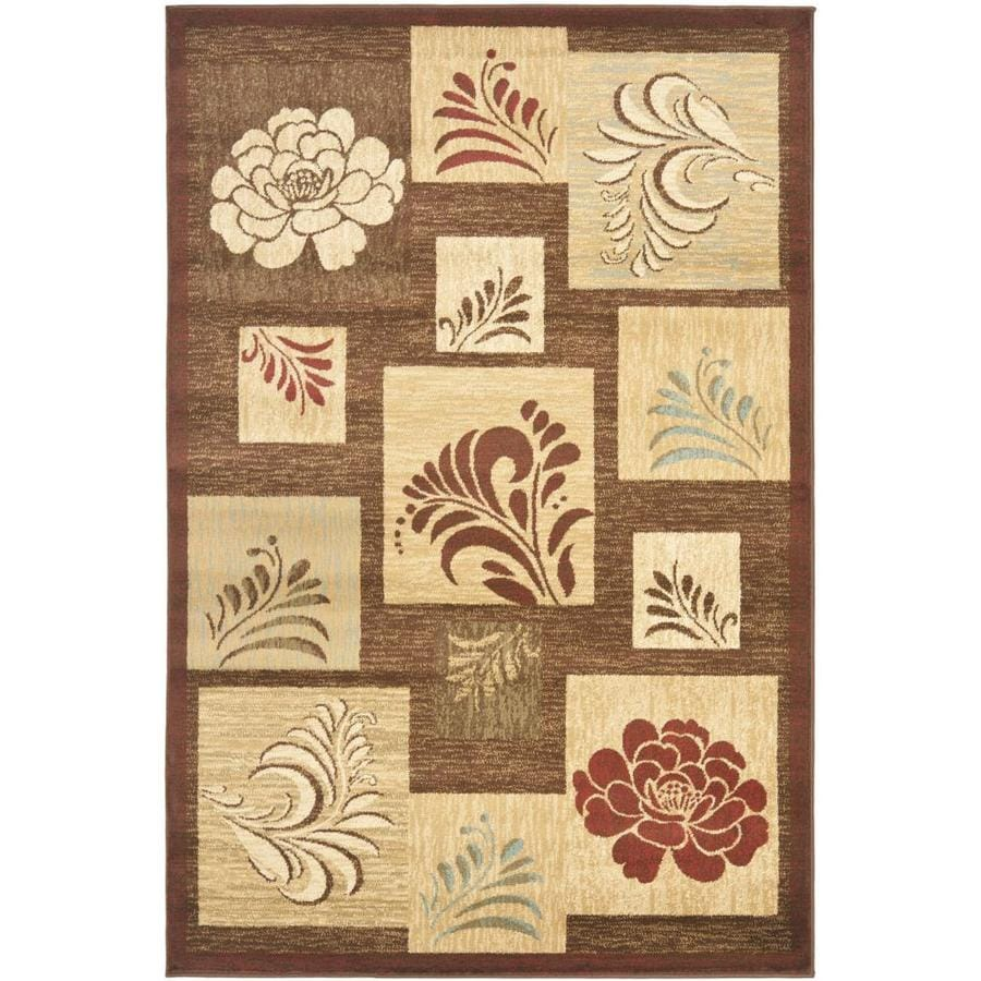 Safavieh Lyndhurst Brown and Multicolor Rectangular Indoor Machine-Made Area Rug (Common: 4 x 6; Actual: 48-in W x 72-in L x 0.42-ft Dia)
