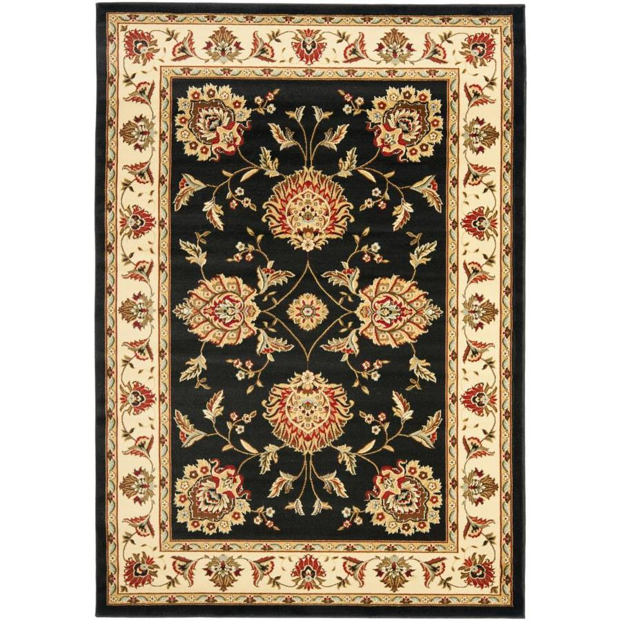 Safavieh Lyndhurst Black and Ivory Rectangular Indoor Machine-Made Area Rug (Common: 5 x 8; Actual: 63-in W x 90-in L x 0.33-ft Dia)