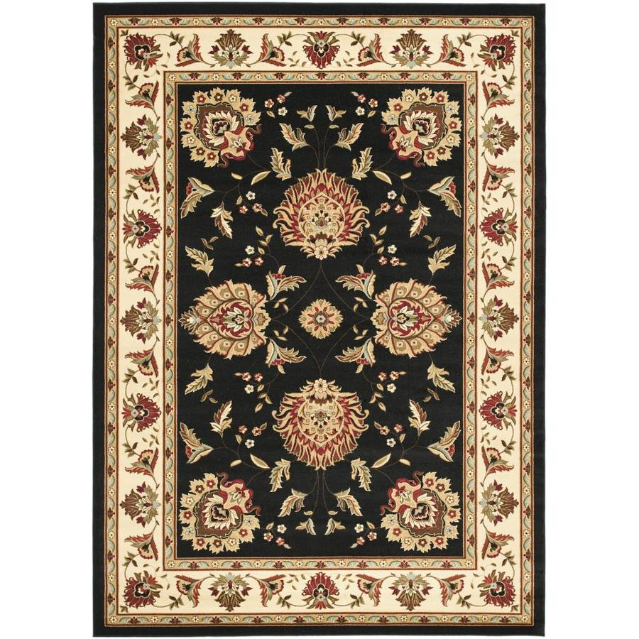 Safavieh Lyndhurst Blue and Ivory Rectangular Indoor Machine-Made Area Rug (Common: 8 x 10; Actual: 96-in W x 132-in L x 0.58-ft Dia)