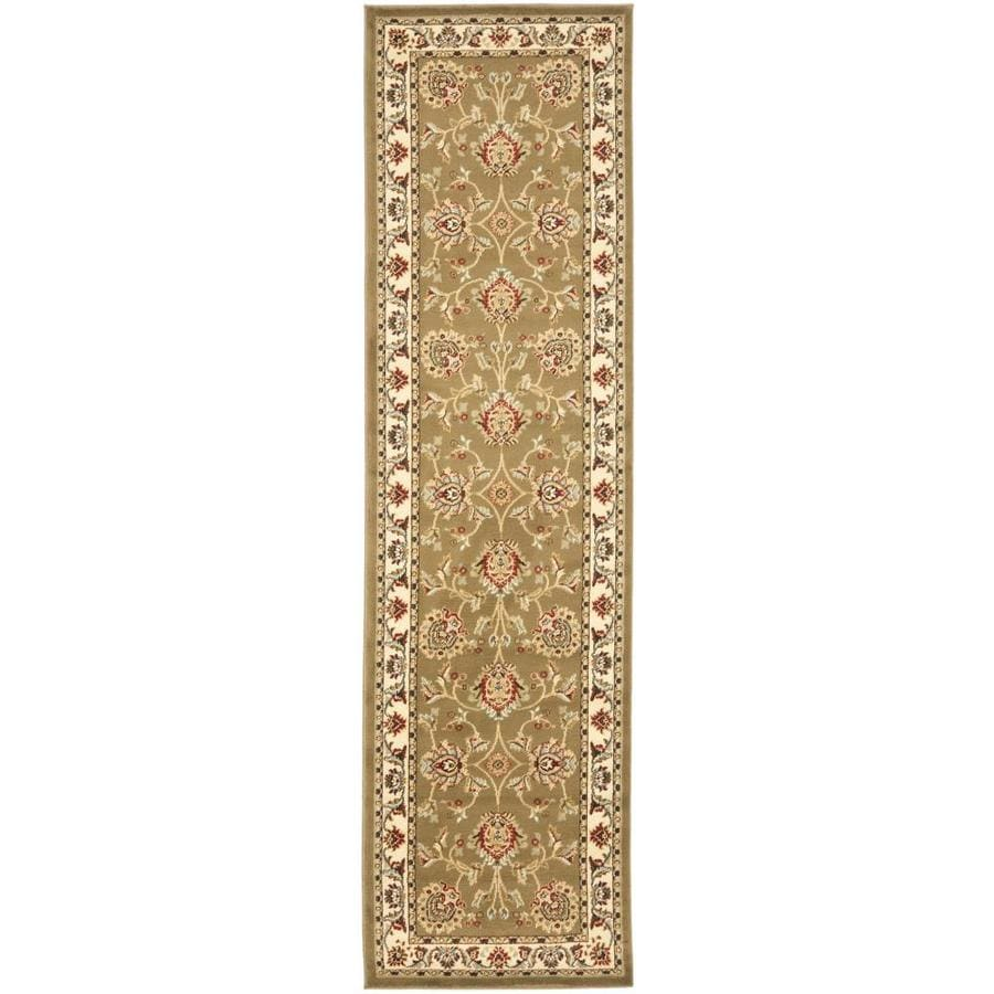 Safavieh Lyndhurst Green and Ivory Rectangular Indoor Machine-Made Runner (Common: 2 x 8; Actual: 27-in W x 96-in L x 0.58-ft Dia)
