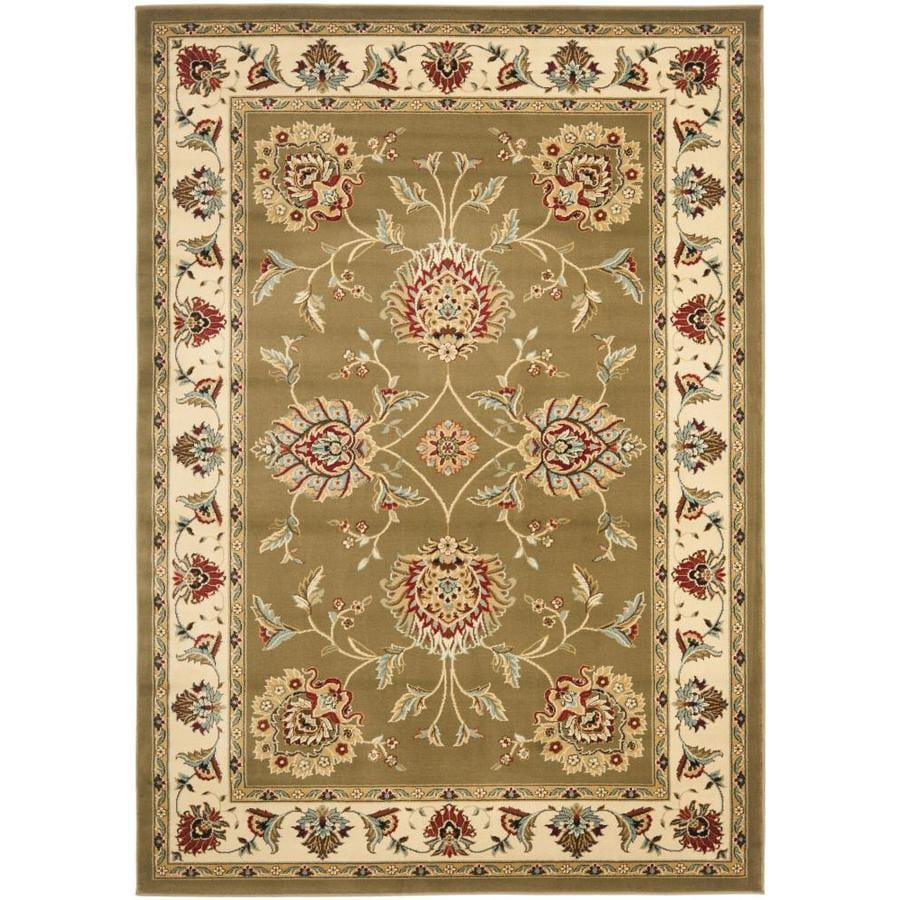 Safavieh Lyndhurst Light Grey and Gold Rectangular Indoor Machine-Made Area Rug (Common: 4 x 6; Actual: 48-in W x 72-in L x 0.42-ft Dia)