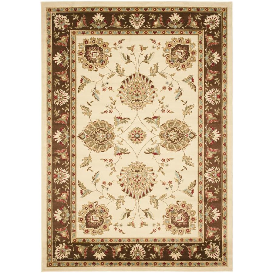 Safavieh Lyndhurst Red and Ivory Rectangular Indoor Machine-Made Area Rug (Common: 8 x 10; Actual: 96-in W x 132-in L x 0.58-ft Dia)