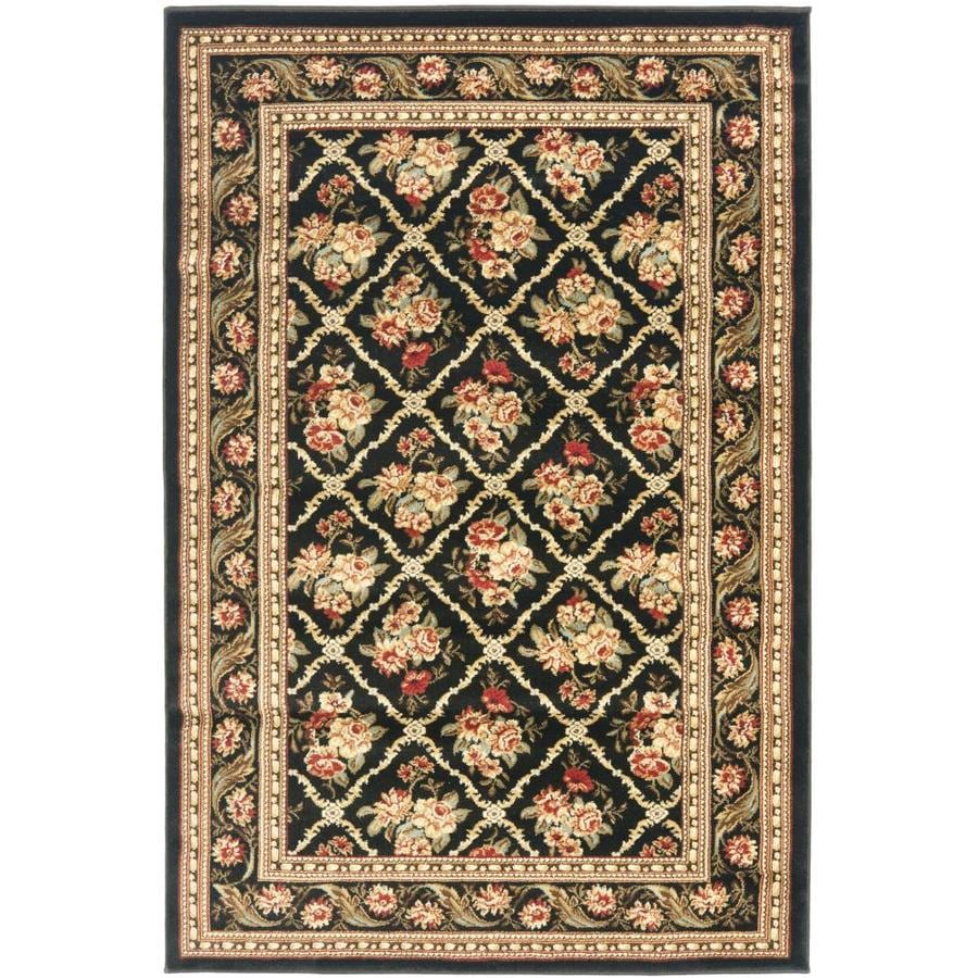 Safavieh Lyndhurst Black and Black Rectangular Indoor Machine-Made Area Rug (Common: 4 x 6; Actual: 48-in W x 72-in L x 0.42-ft Dia)