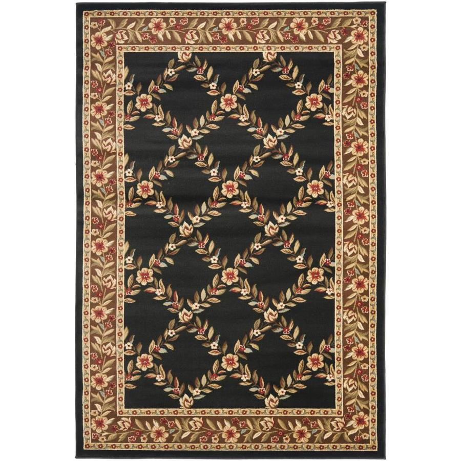 Safavieh Lyndhurst Black and Brown Rectangular Indoor Machine-Made Area Rug (Common: 5 x 8; Actual: 63-in W x 90-in L x 0.33-ft Dia)