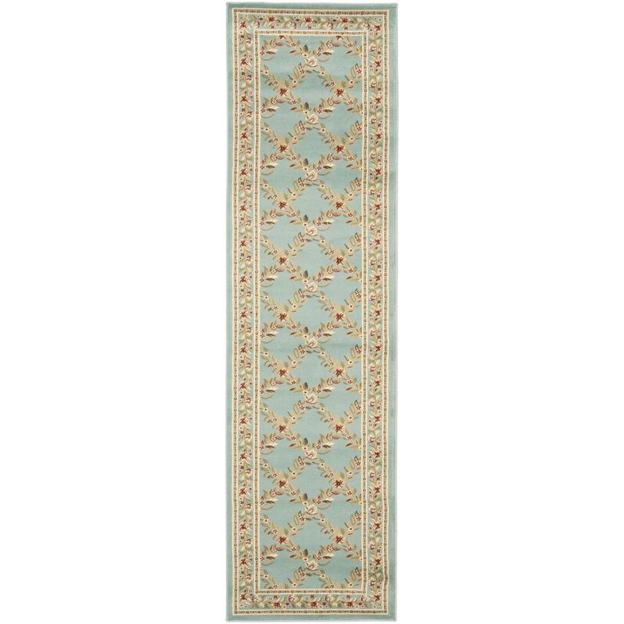 Safavieh Lyndhurst Blue Rectangular Indoor Machine-Made Runner (Common: 2 x 8; Actual: 27-in W x 96-in L x 0.58-ft Dia)