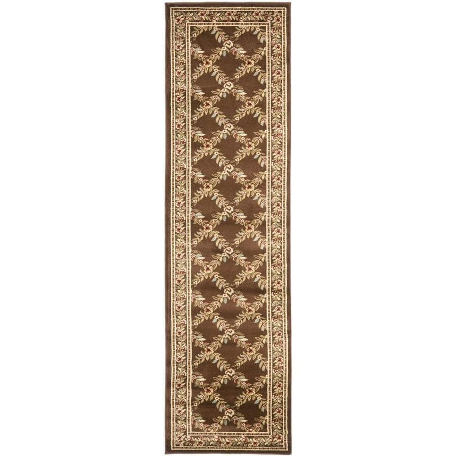 Safavieh Lyndhurst Brown and Brown Rectangular Indoor Machine-Made Runner (Common: 2 x 8; Actual: 27-in W x 96-in L x 0.58-ft Dia)