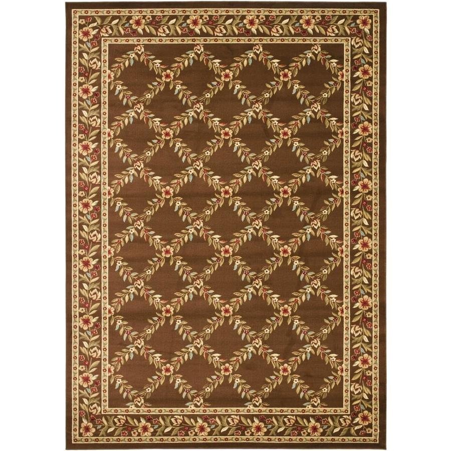 Safavieh Lyndhurst Green and Green Rectangular Indoor Machine-Made Area Rug (Common: 8 x 10; Actual: 96-in W x 132-in L x 0.58-ft Dia)