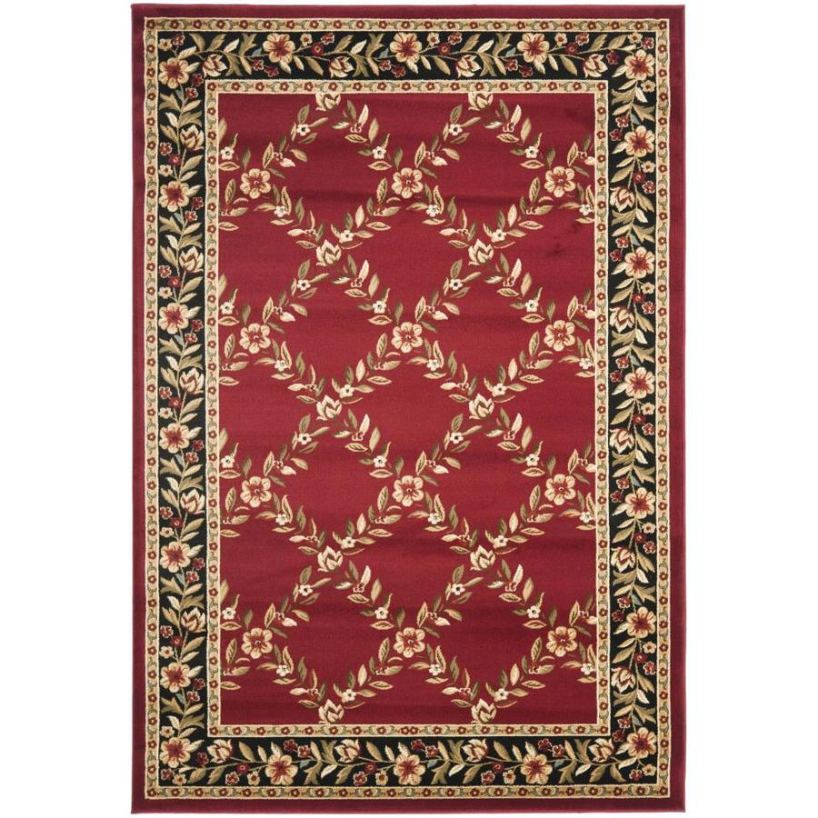 Safavieh Lyndhurst Red and Black Rectangular Indoor Machine-Made Area Rug (Common: 5 x 8; Actual: 63-in W x 90-in L x 0.33-ft Dia)