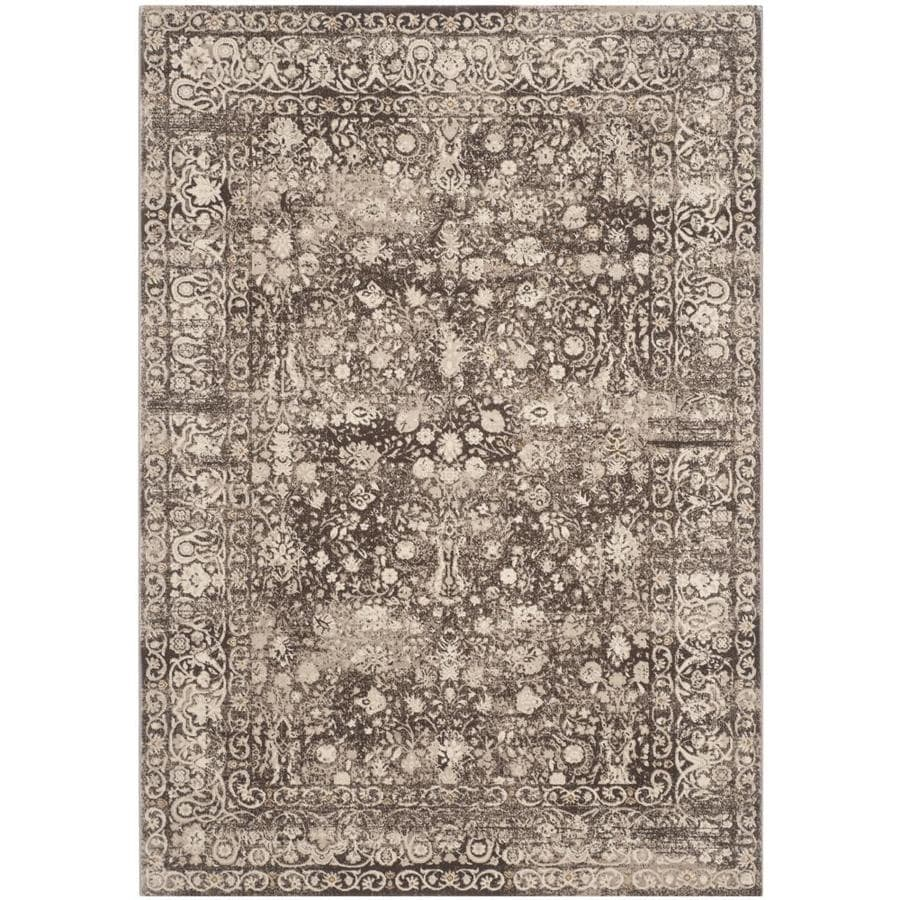Safavieh Serenity Brown and Cream Rectangular Indoor Machine-Made Throw Rug (Common: 3 x 5; Actual: 39-in W x 63-in L x 0.42-ft Dia)