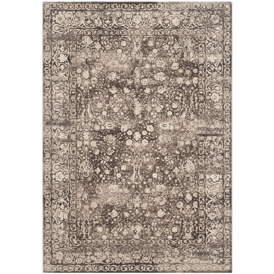 Safavieh Serenity Turquoise and Gold Rectangular Indoor Machine-Made Area Rug (Common: 6 x 6; Actual: 72-in W x 108-in L x 0.67-ft Dia)