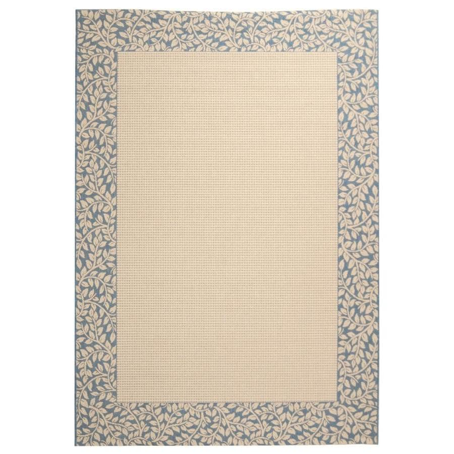Safavieh Courtyard Natural and Blue Rectangular Indoor and Outdoor Machine-Made Area Rug (Common: 6 x 9; Actual: 79-in W x 114-in L x 0.42-ft Dia)