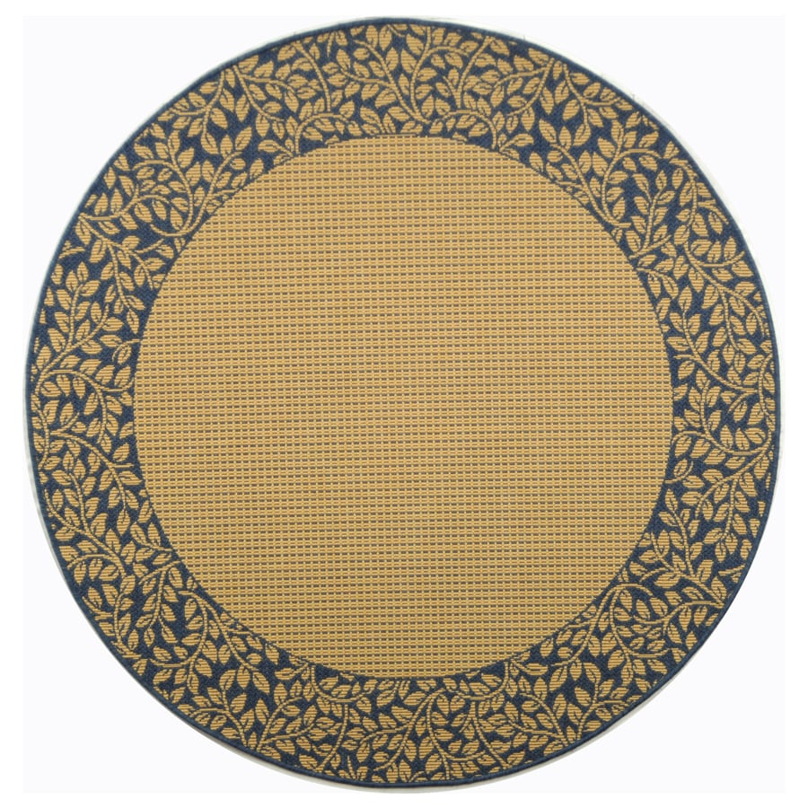 Shop Safavieh Courtyard 6 Ft 7 In X 6 Ft 7 In Round Beige Border Indoor Outdo