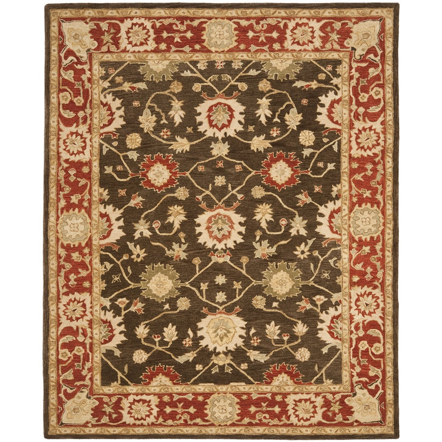 Safavieh Anatolia Rectangular Green Transitional Tufted Wool Area Rug (Common: 9-ft x 12-ft; Actual: 9-ft x 12-ft)