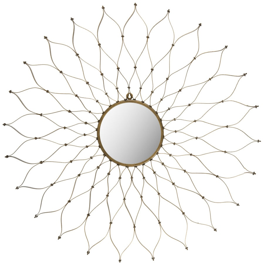 Safavieh 20-in x 20-in Gold Polished Round Framed Venetian Wall Mirror