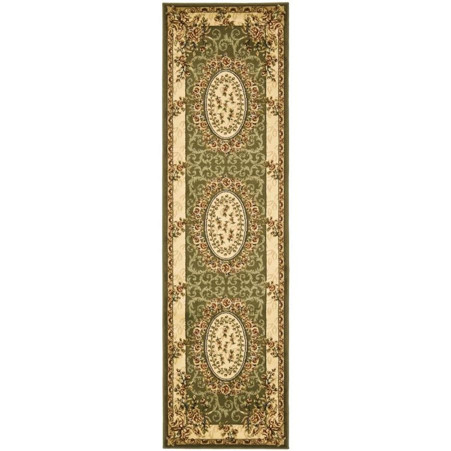 Safavieh Lyndhurst Sage and Ivory Rectangular Indoor Machine-Made Runner (Common: 2 x 14; Actual: 27-in W x 168-in L x 0.42-ft Dia)