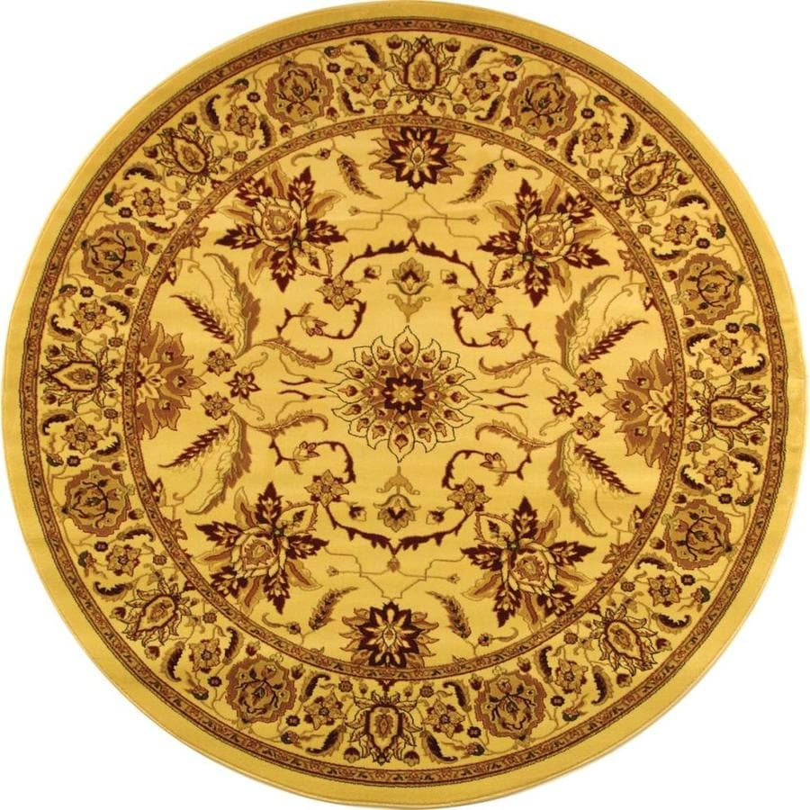 Safavieh Lyndhurst Ivory Round Indoor Machine-Made Area Rug (Common: 5 x 5; Actual: 63-in W x 63-in L x 0.42-ft Dia)